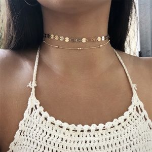 Jewelry - 3 for $25⚡️sequin & bead choker set